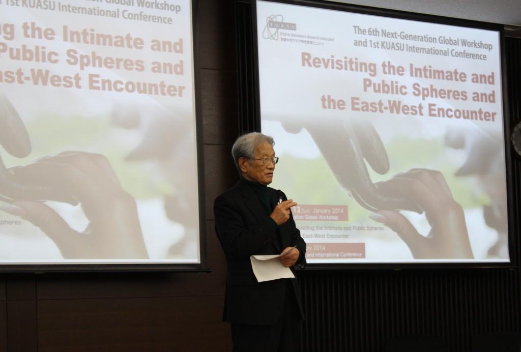 Kyoto University President MATSUMOTO made a welcome speech.